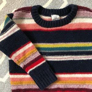 Baby GAP multi color stripe sweater 18-24 mo